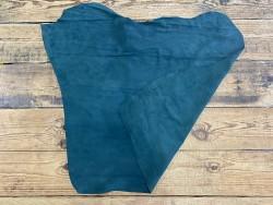 Recto verso peau de veau velours vert forêt - maroquinerie, vêtement - cuir en stock