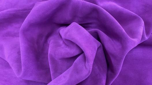 Souplesse peau de veau velours rose fuschia - maroquinerie - ameublement - Cuirenstock