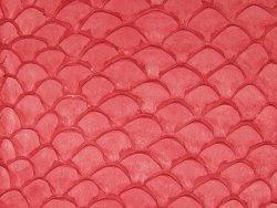 Cuir de poisson tilapia rouge mat écailles bijoux accessoire Cuir en stock