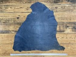 Peau de cuir de mouton - effet vieilli bleu - maroquinerie - Cuir en Stock