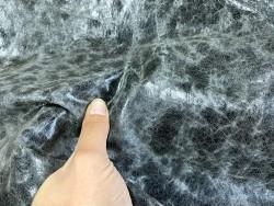 Détail peau de cuir de porc classique - maroquinerie - effet vieilli noir - Cuir en stock