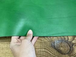 Bande de cuir de collet de vache végétal vert Cuir en stock