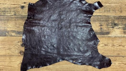 Peau de cuir de buffle bordeaux - maroquinerie - Cuir en Stock