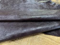 Peau de cuir de buffle bordeaux - maroquinerie - Cuirenstock