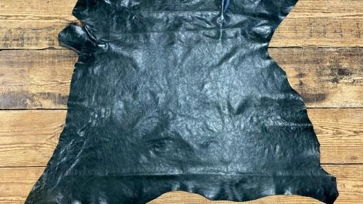 Peau de cuir de buffle vert forêt - maroquinerie - Cuir en Stock
