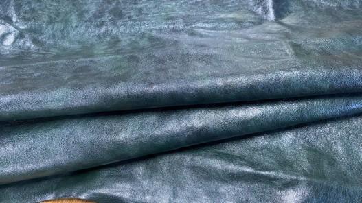 Peau de cuir de buffle vert forêt - maroquinerie - Cuirenstock