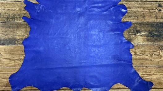 Peau de cuir de buffle bleu lavande - maroquinerie - Cuir en Stock