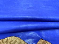 Peau de cuir de buffle bleu lavande - maroquinerie - Cuirenstock