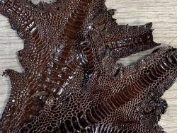 Peau cuir patte de coq qualité exotique luxe bijoux accessoire Cuir en Stock