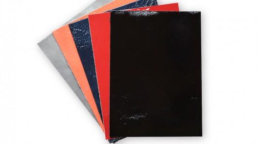 Lot surprise 5 morceaux de cuir vernis - Rectangle 15 x 20 cm - Cuir en stock