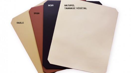 Tapis de souris en cuir véritable - choix des coloris - idée cadeau - Cuir en stock