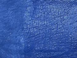 Morceaux de cuir d'autruche bleu Cuir en stock