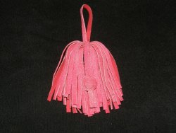 Pompon cuir