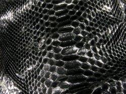 Chutes de cuir de serpent noir