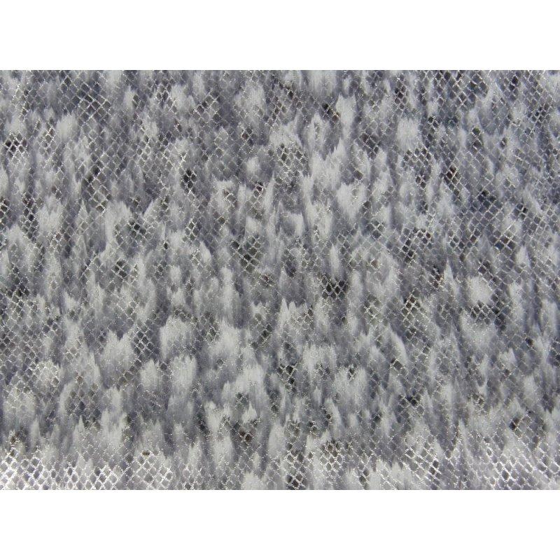 cuir fantaisie argenté peau de chèvre grain serpent