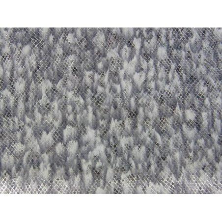Chèvre grain serpent gris argenté