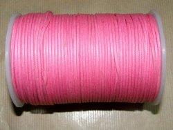 Fil coton ciré rose