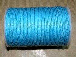 Fil coton ciré turquoise
