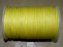 Fil coton ciré jaune