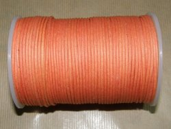 Fil coton ciré orange