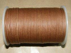 Fil coton ciré brun