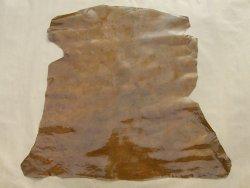 peau d'agneau vernis antique miel cuir en stock