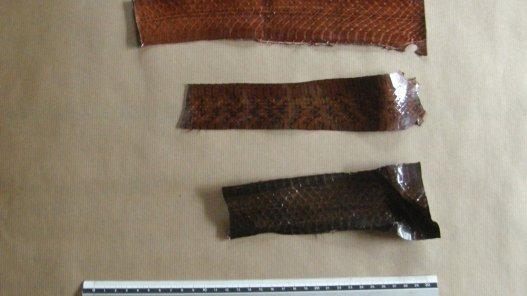 lot peau de serpent Cuir en Stock travail du cuir
