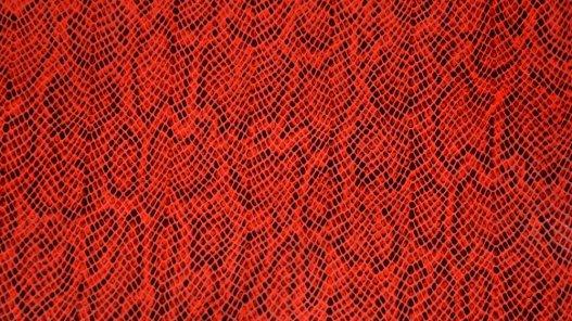morceau cuir de vache grain serpent rouge et noir Cuir en Stock