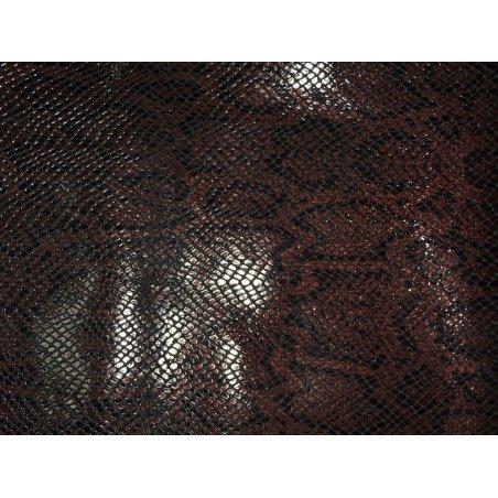 Morceau de cuir de vache grain serpent bordeaux
