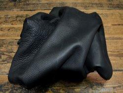 chutes de cuir de vache noir black finition naturel maroquinerie cuir en stock