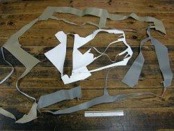 morceaux de cuir PU vendu au poids Cuir en stock