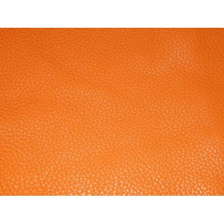 Chutes de cuir Togo orange