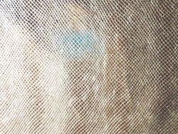 Veau grain serpent metalisé or