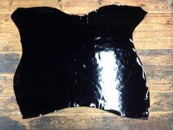 Peau de cuir de vachette vernis - Noir