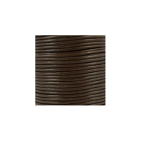 Lacet brun foncé 5mm