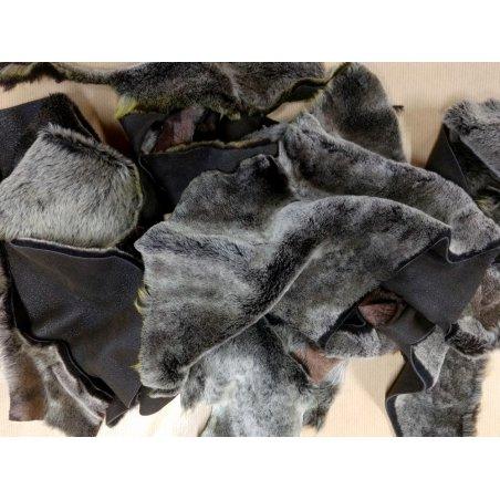 Chutes de cuir d'agneau laine brun snow top