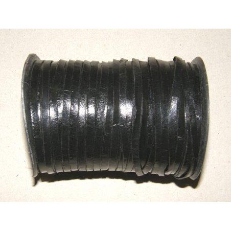 Lanière de cuir noir