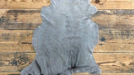 Peau d'agneau laine merinos gris taupe cuir en stock