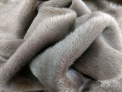 Peau d'agneau laine merinos gris taupe Cuirenstock