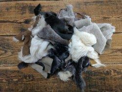 Chutes de cuir d'agneau laine divers