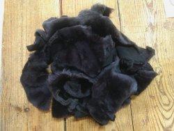 Chutes de cuir d'agneau laine brun