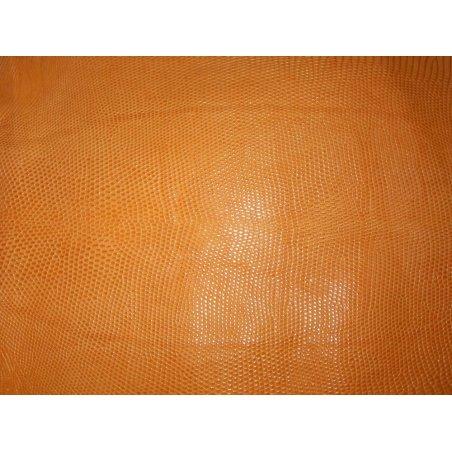 Peau cuir de lézard orange