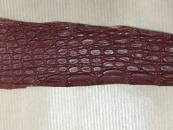 peau de cuir de crocodile couleur brique maroquinerie bijoux cuirenstock