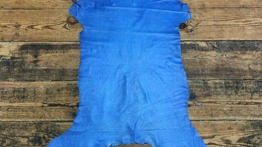 peau agneau nappa bleu cuir en stock