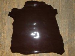 peau agneau vernis choco brun cuir en stock