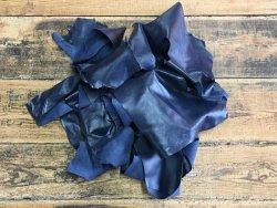 chutes de cuir d'agneau marine maroquinerie luxe cuir en stock