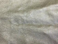 morceau peau cuir veau argent maroquinerie Cuirenstock