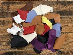 chutes de cuir de veau divers couleurs maroquinerie accessoire cuir en stock