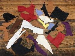 morceaux de cuir de veau divers maroquinerie accessoire couleurs Cuirenstock