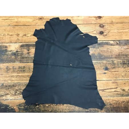 Agneau nappa noir mat 2ème choix